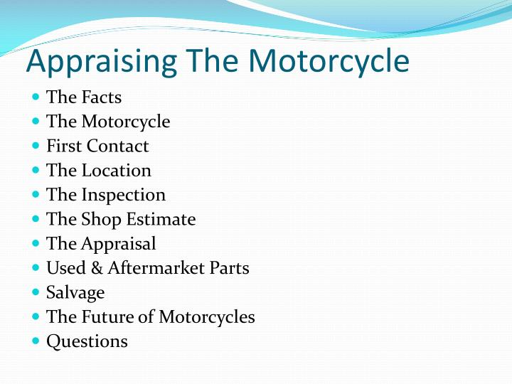 Appraising the motorcycle2
