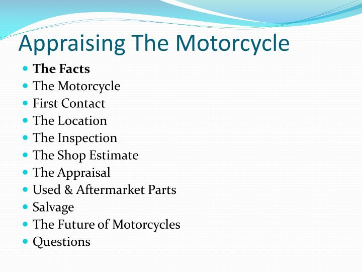 Appraising the motorcycle3