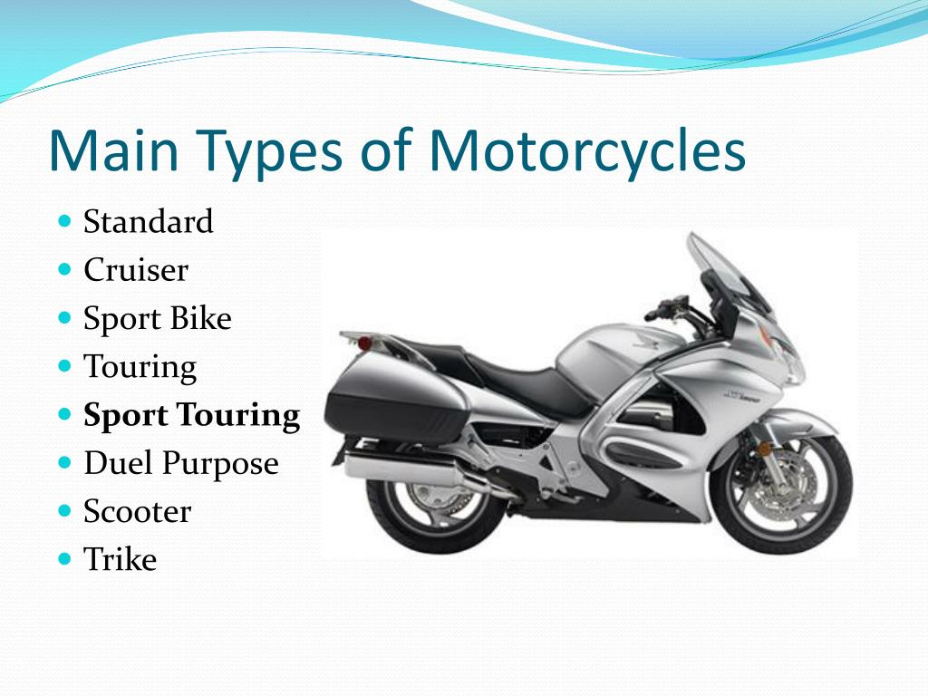 Main Types of Motorcycles