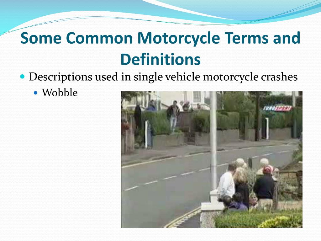 Some Common Motorcycle Terms and Definitions