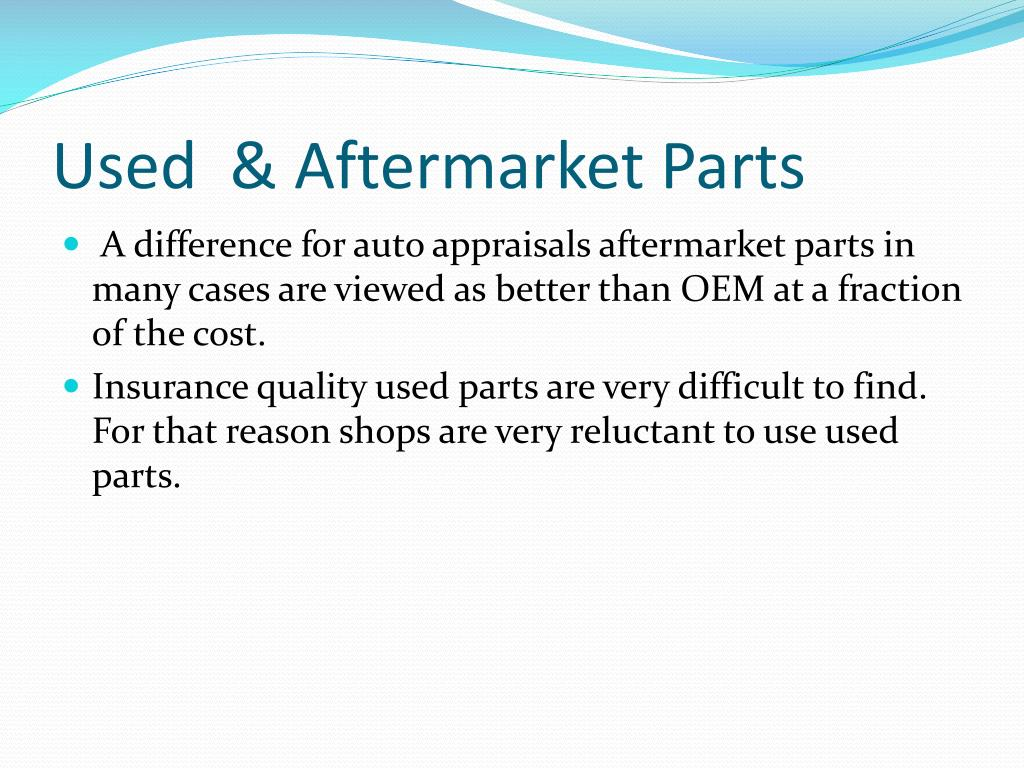 Used  & Aftermarket Parts