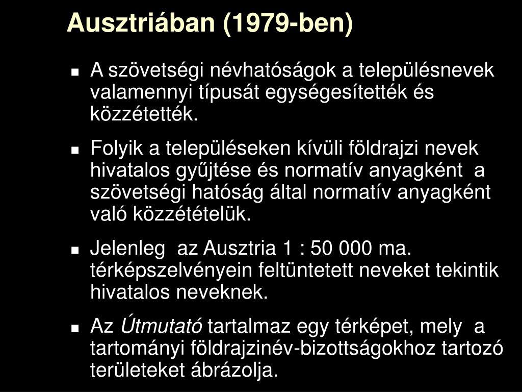 Ausztriában (1979-ben)