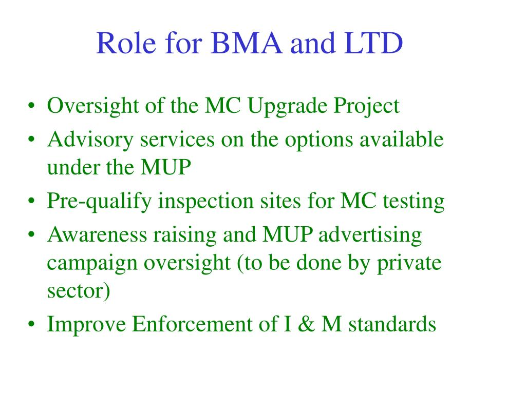 Role for BMA and LTD