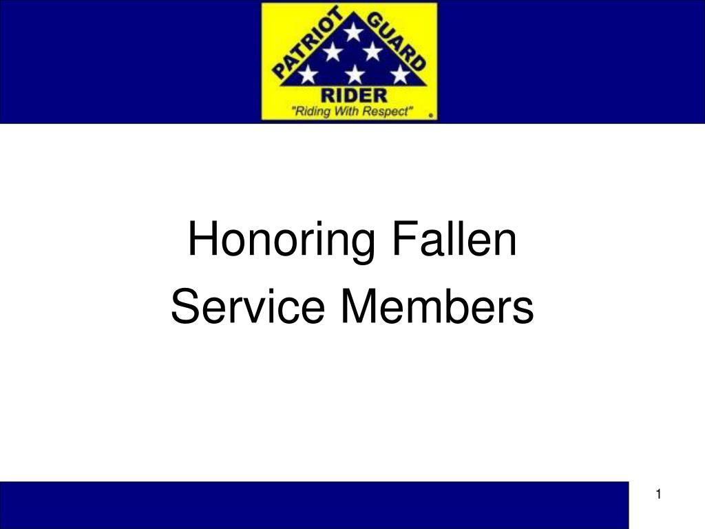 Honoring Fallen