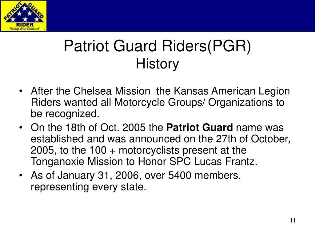 Patriot Guard Riders(PGR)