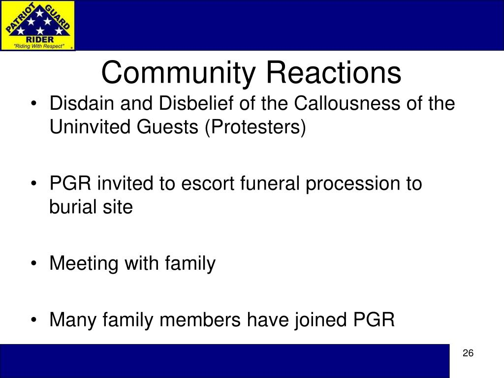 Community Reactions