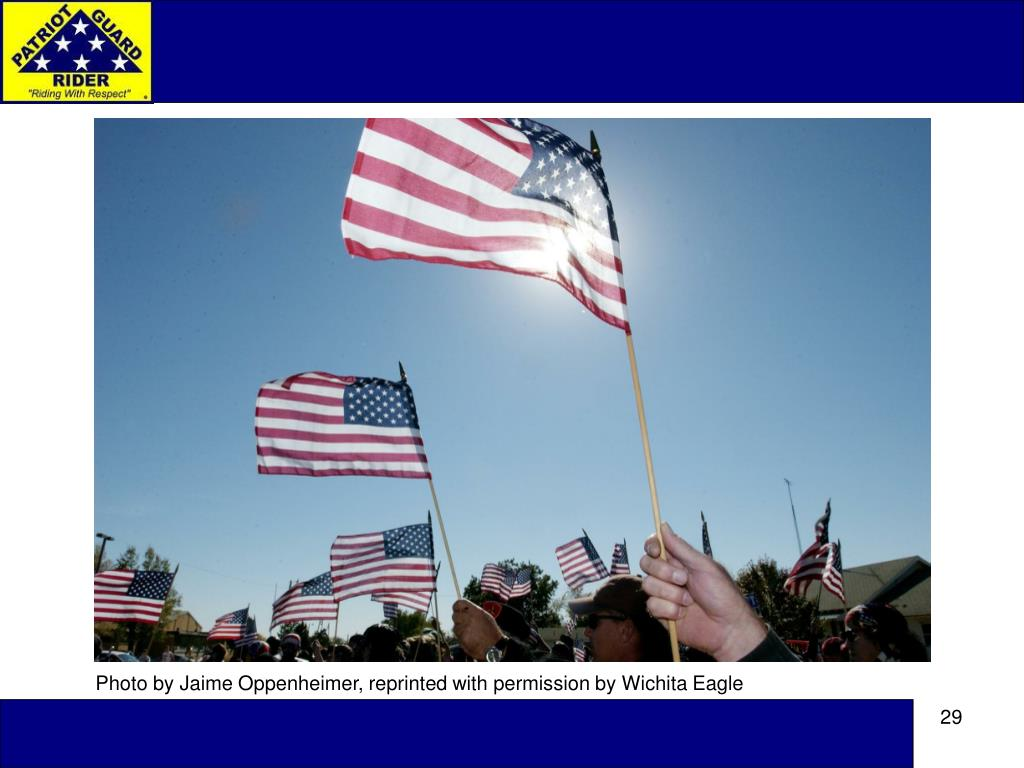 Photo by Jaime Oppenheimer, reprinted with permission by Wichita Eagle
