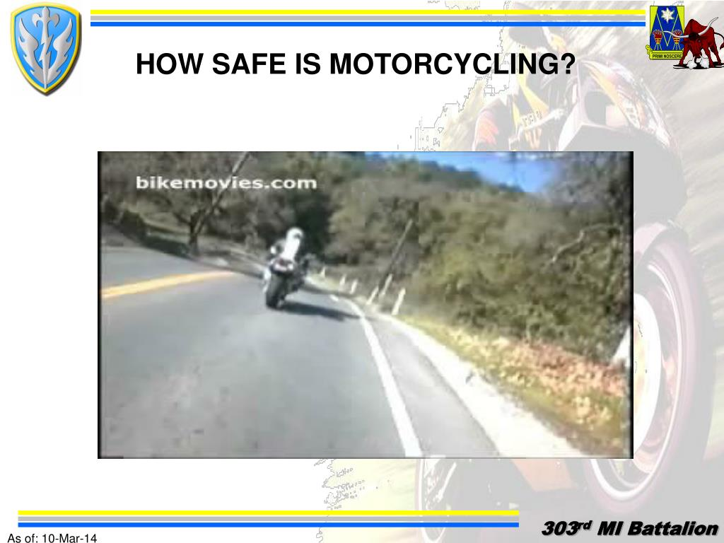 HOW SAFE IS MOTORCYCLING?