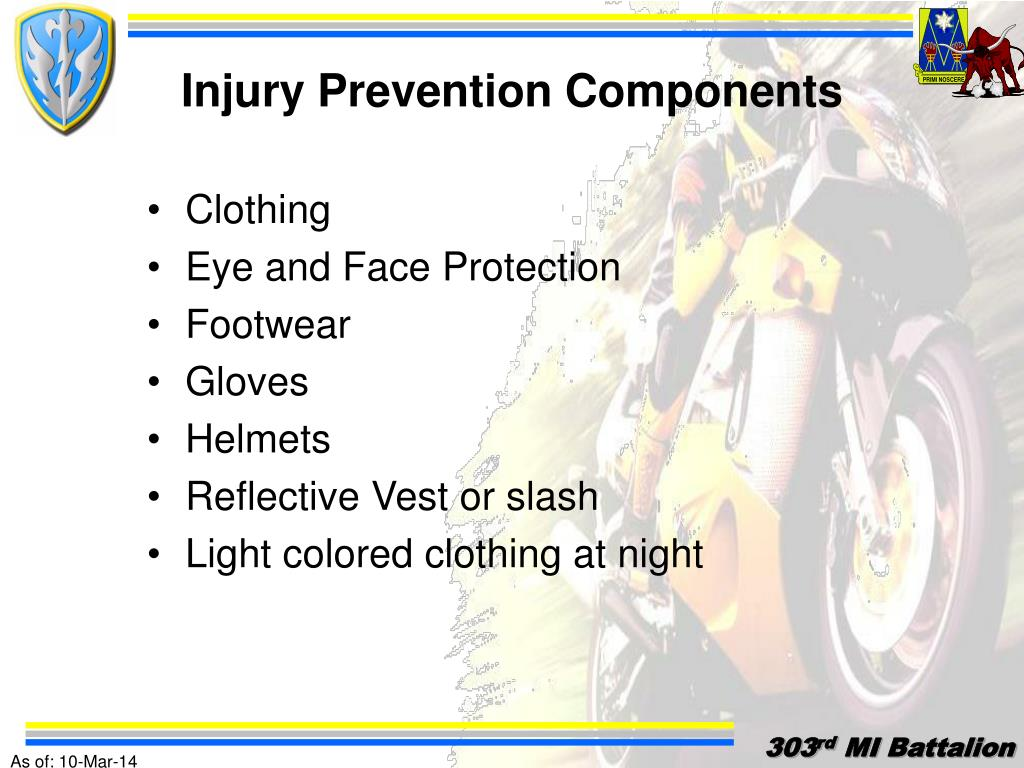 Injury Prevention Components