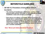 motorcycle guidelines