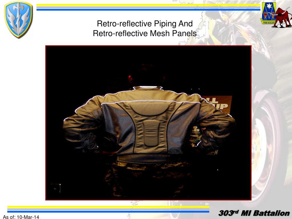 Retro-reflective Piping And     Retro-reflective Mesh Panels