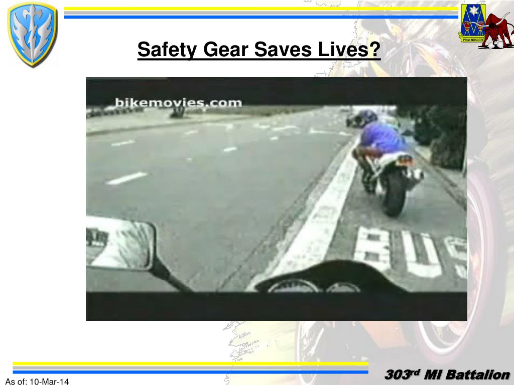 Safety Gear Saves Lives?