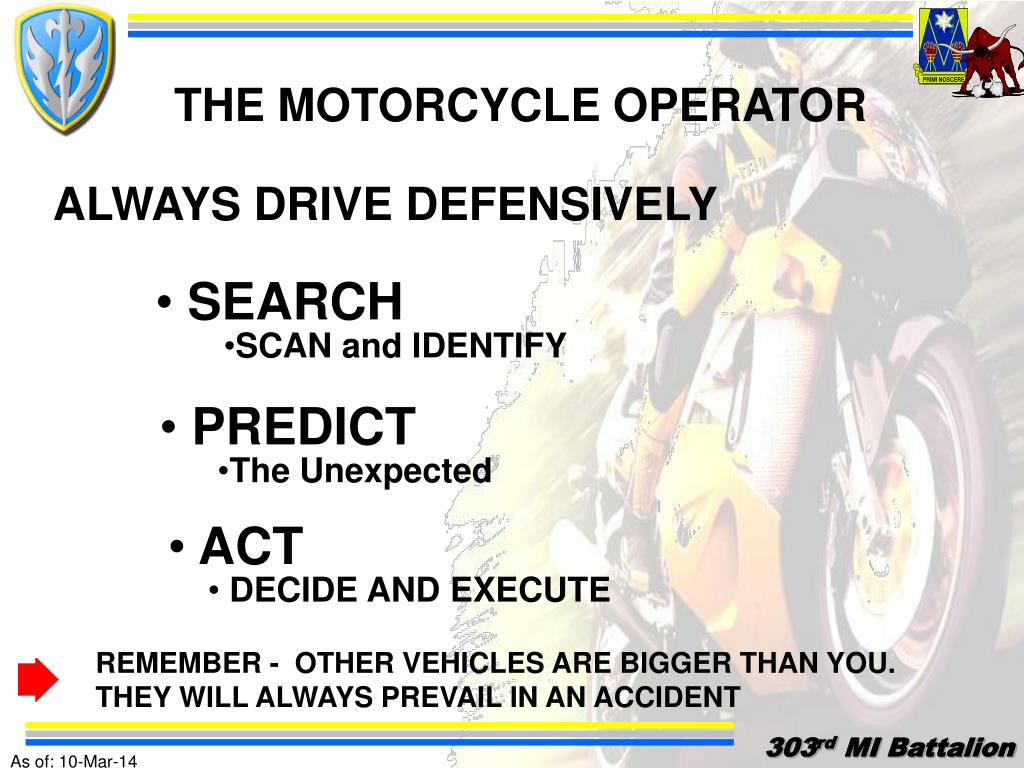 THE MOTORCYCLE OPERATOR