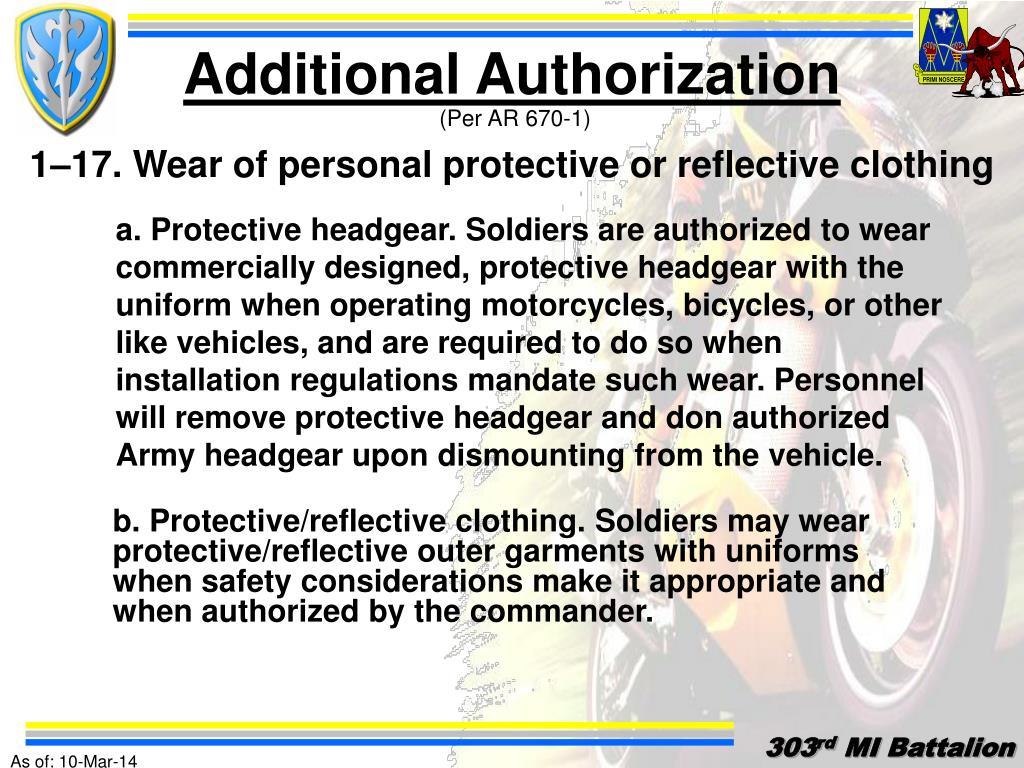 Additional Authorization