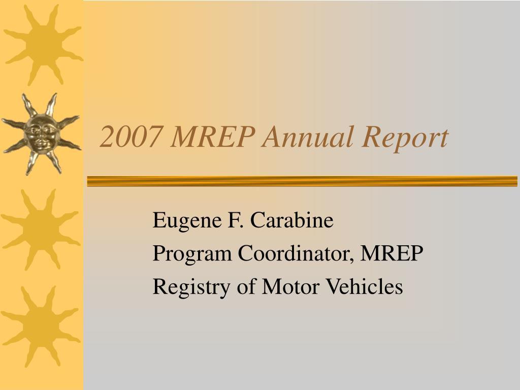 2007 MREP Annual Report