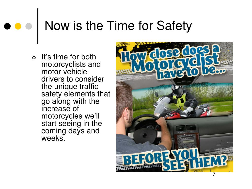 Now is the Time for Safety