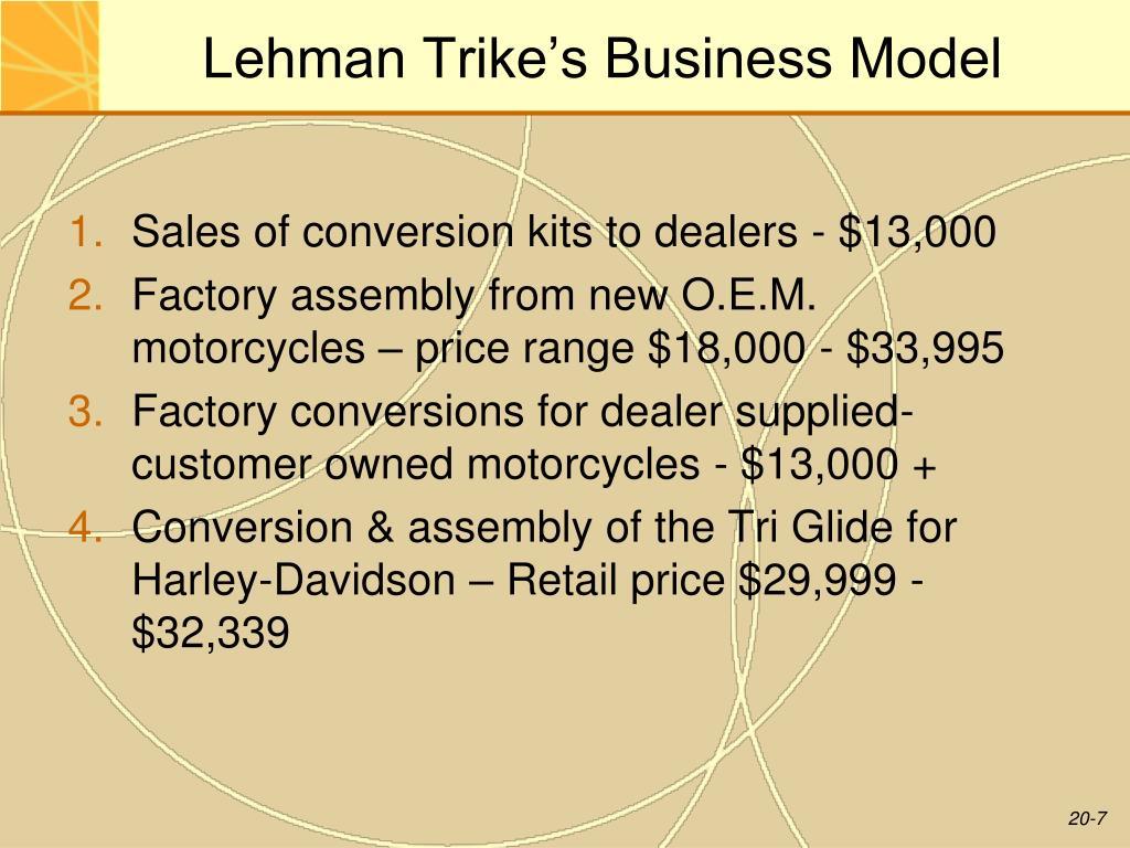 Lehman Trike's Business Model