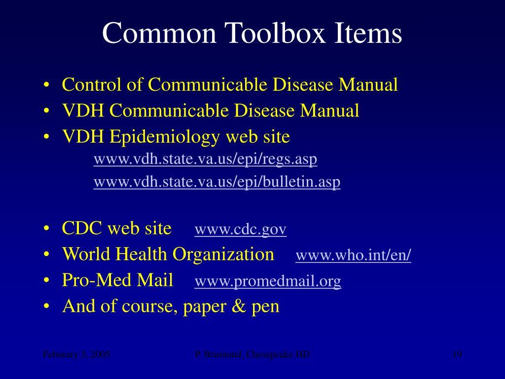 Common Toolbox Items