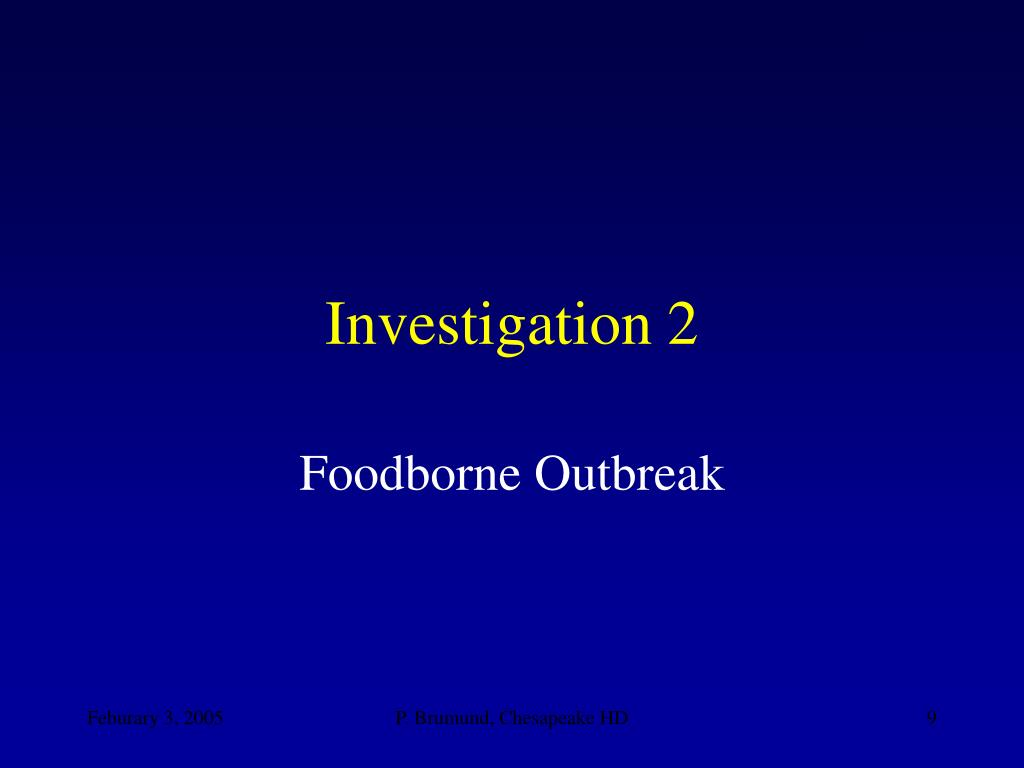 Investigation 2