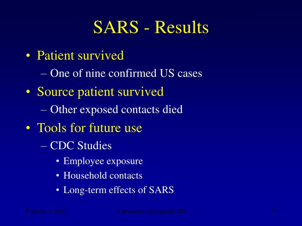 SARS - Results