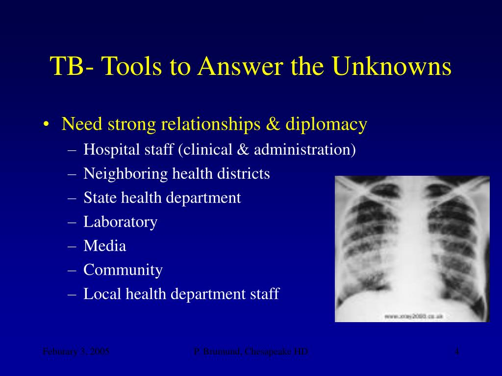 TB- Tools to Answer the Unknowns