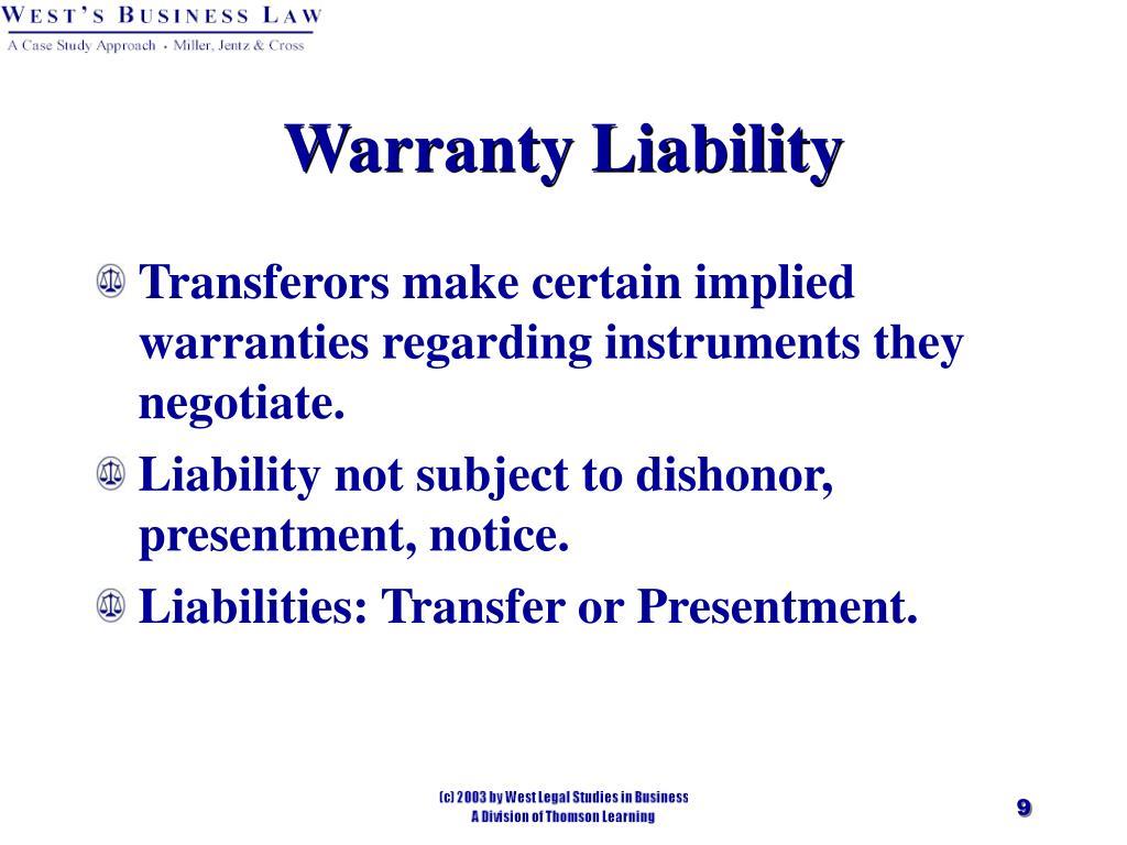 Warranty Liability