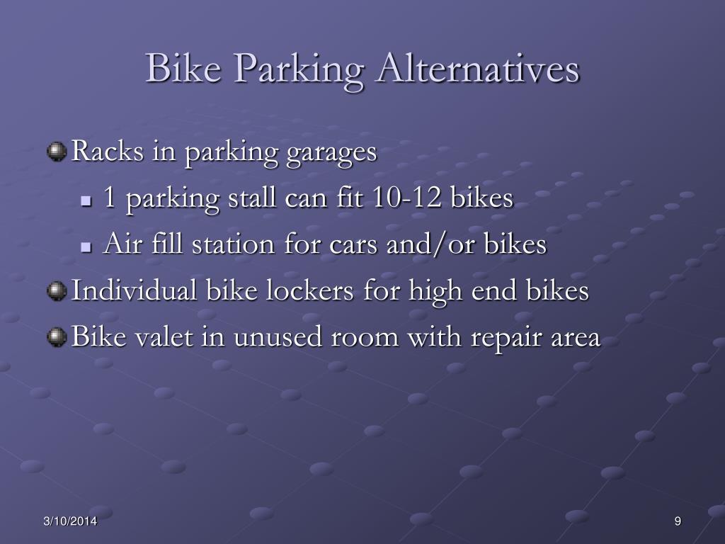 Bike Parking Alternatives