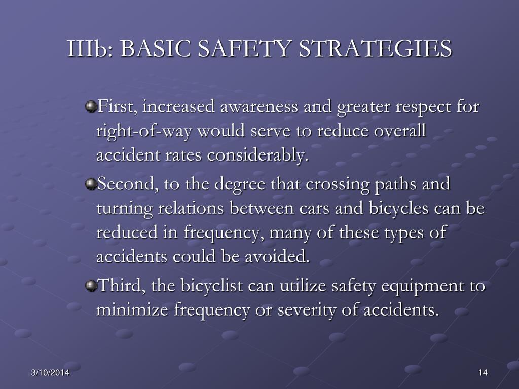 IIIb: BASIC SAFETY STRATEGIES