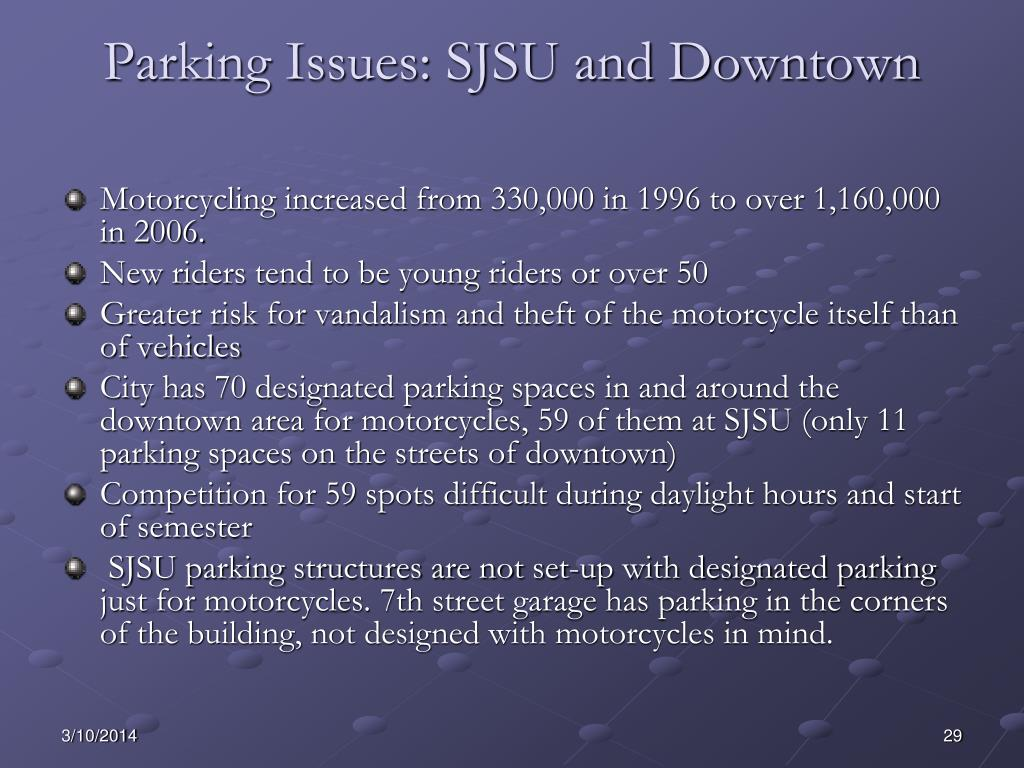 Parking Issues: SJSU and Downtown