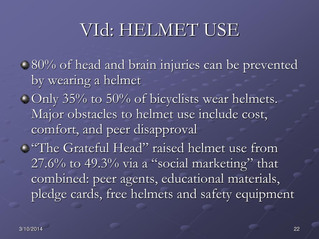 VId: HELMET USE