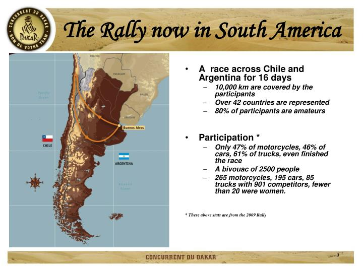 The rally now in south america