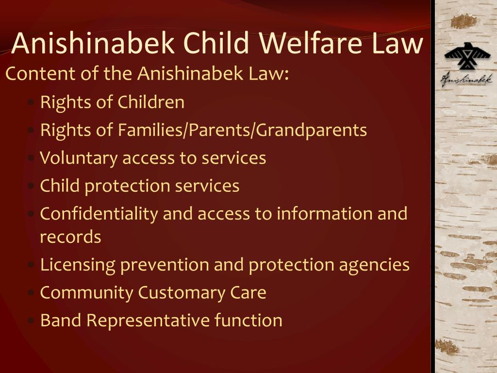 Anishinabek Child Welfare Law