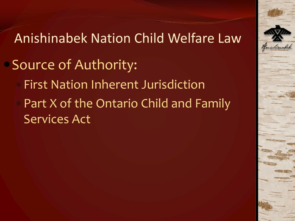 Anishinabek Nation Child Welfare Law