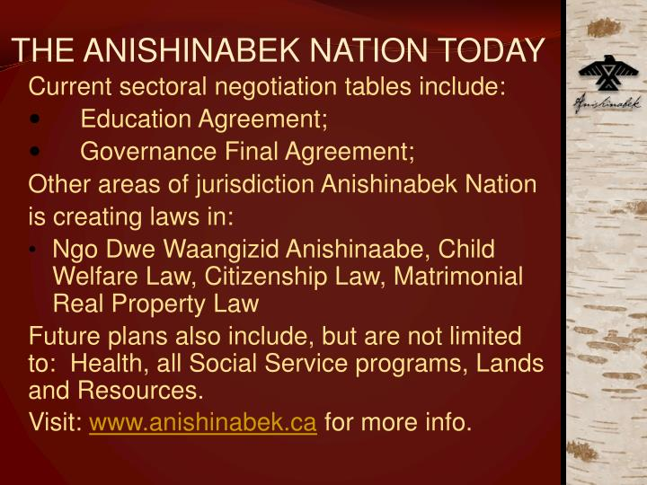 The anishinabek nation today3