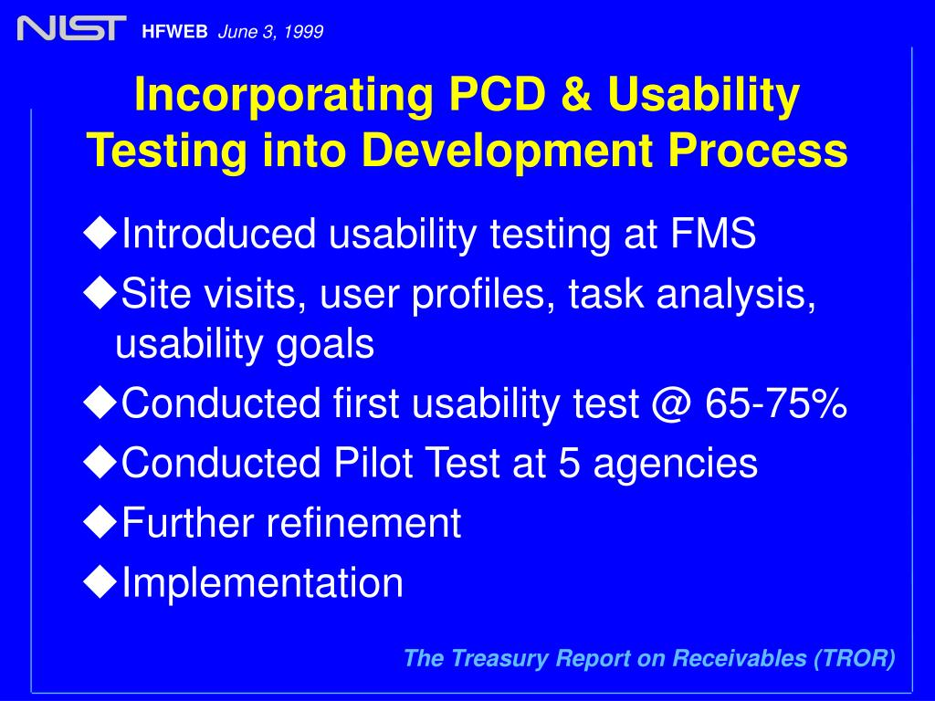 Incorporating PCD & Usability Testing into Development Process