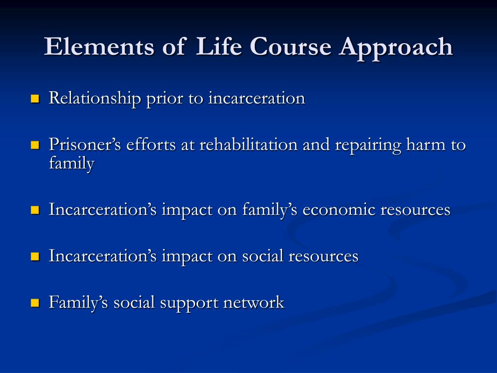 Elements of Life Course Approach