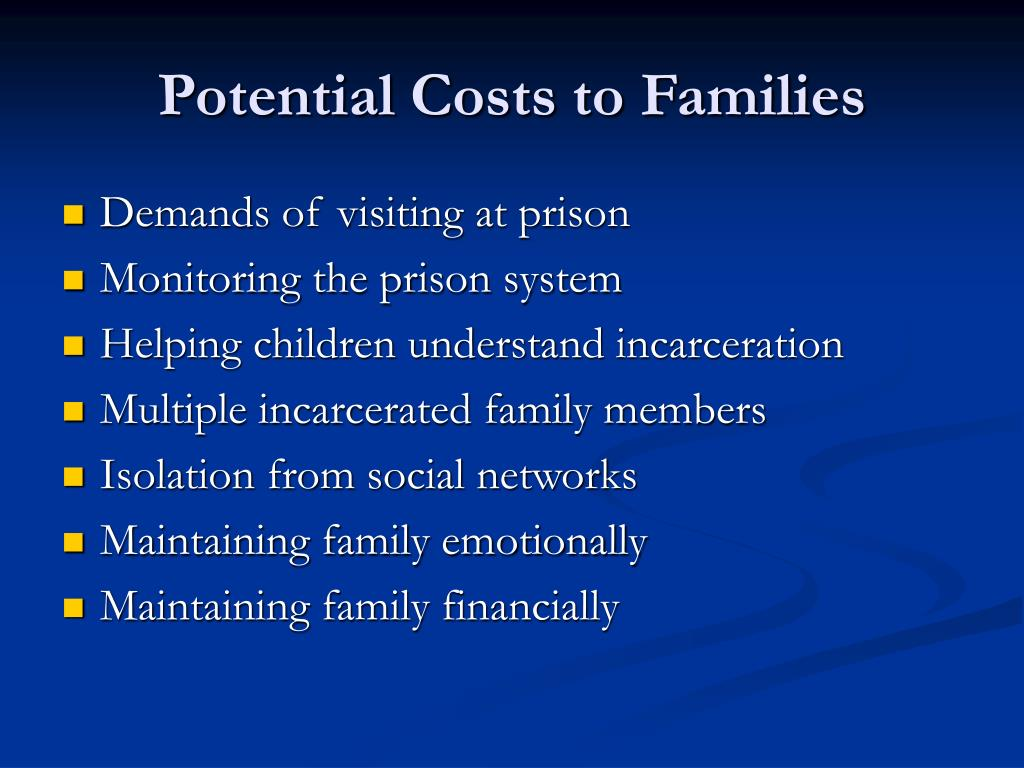 Potential Costs to Families