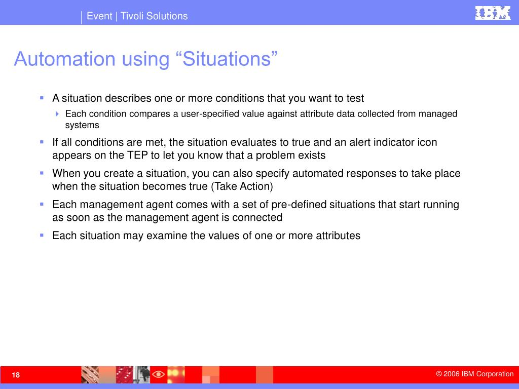 "Automation using ""Situations"""