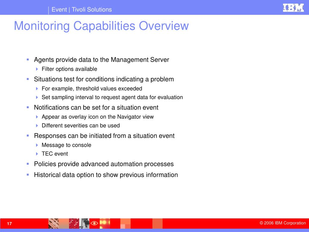 Monitoring Capabilities Overview