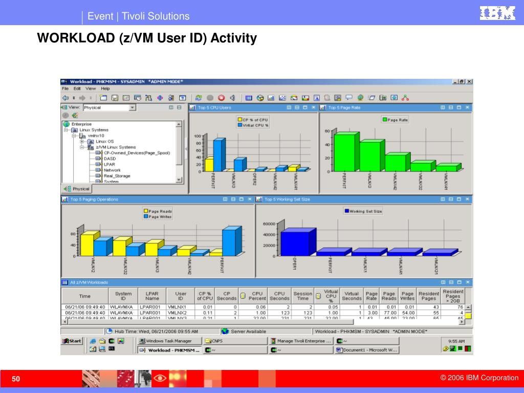 WORKLOAD (z/VM User ID) Activity