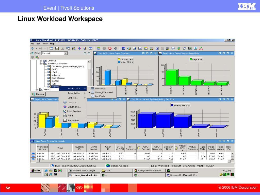 Linux Workload Workspace