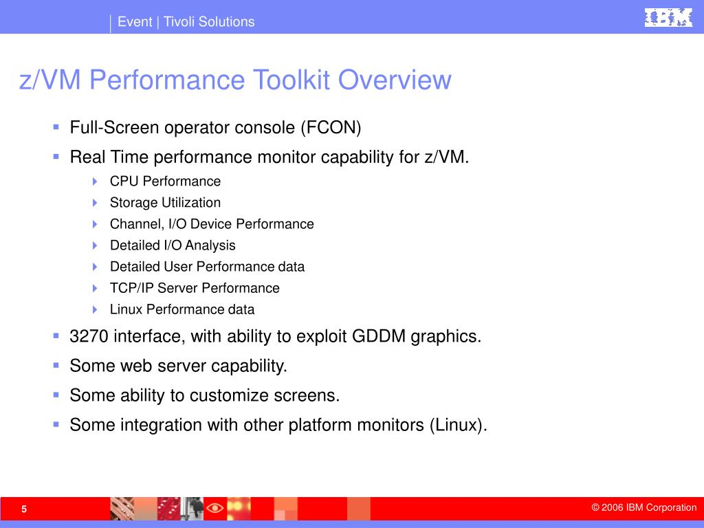 z/VM Performance Toolkit Overview