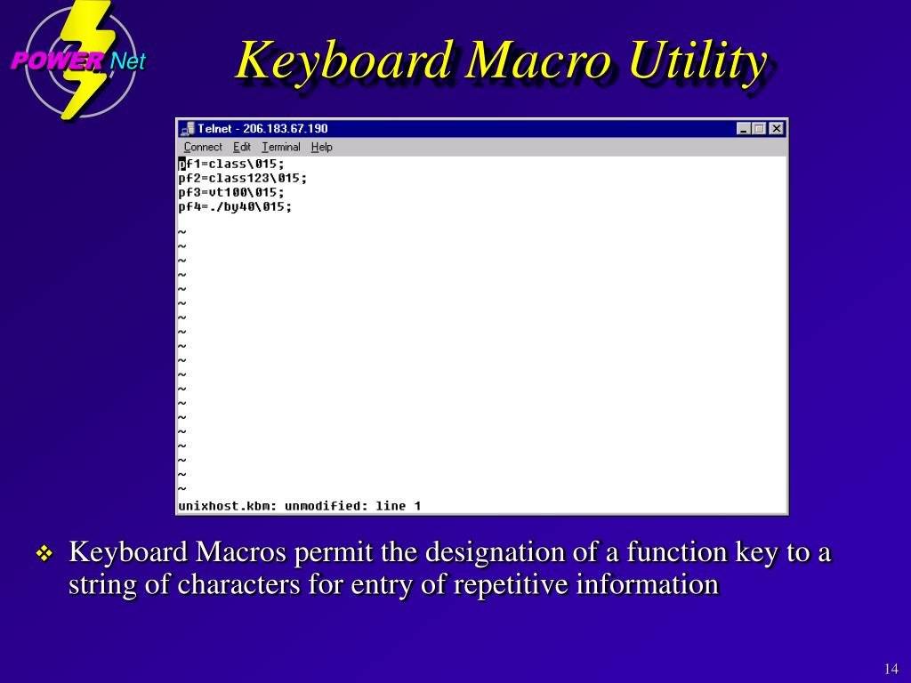 Keyboard Macro Utility