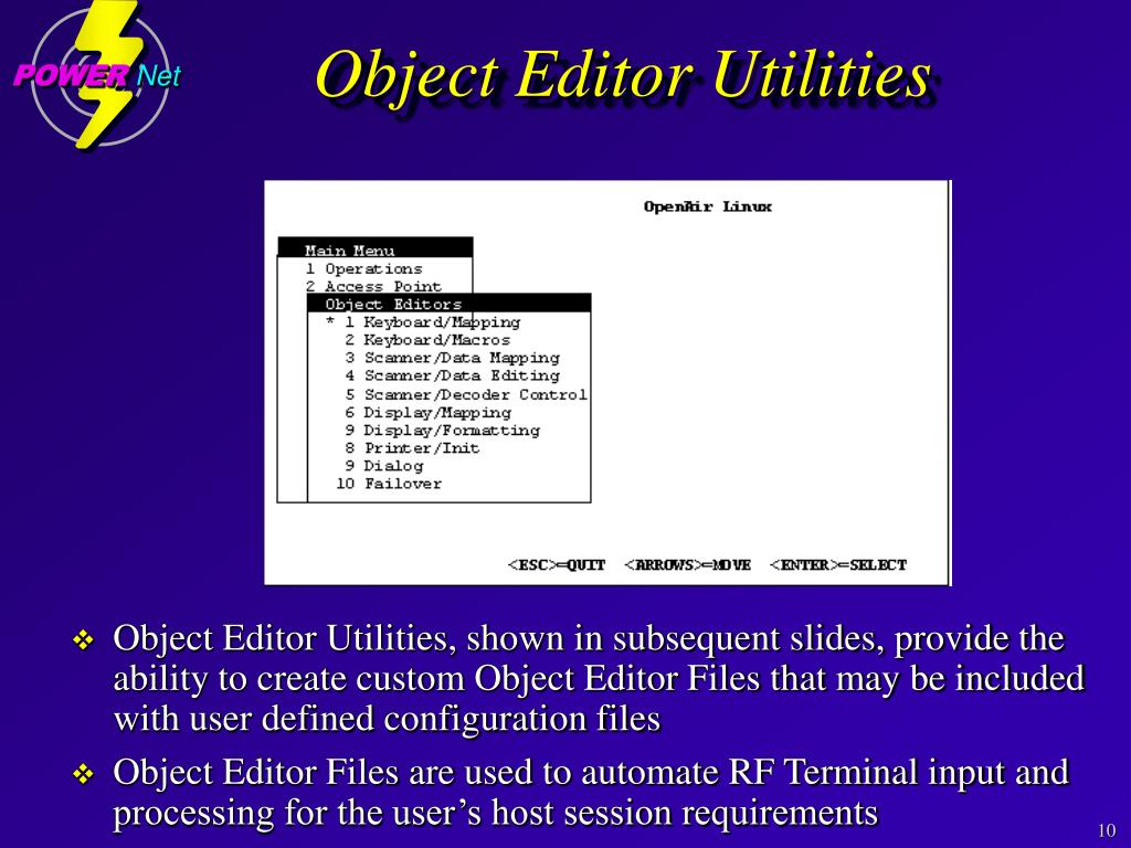 Object Editor Utilities