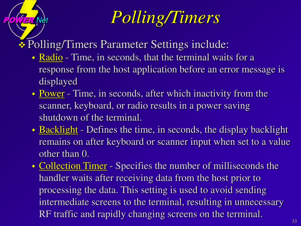 Polling/Timers