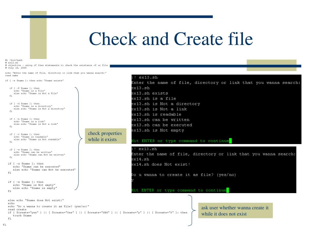 Check and Create file