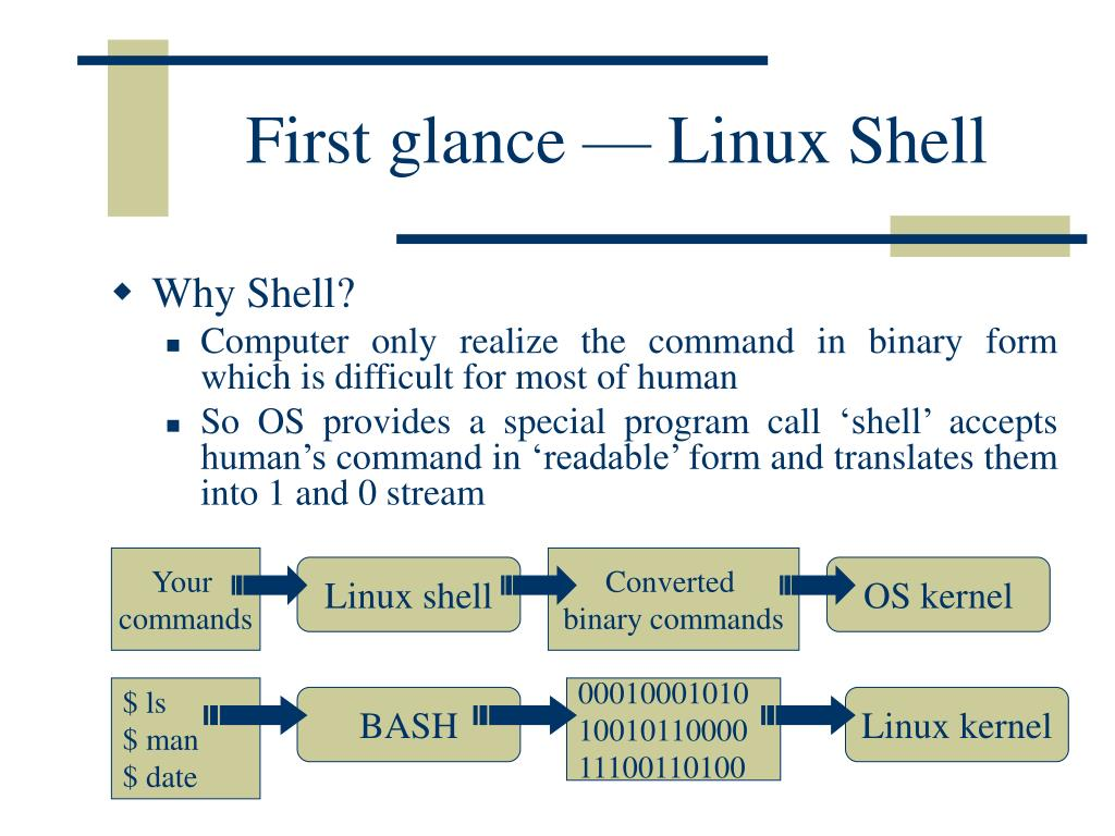 First glance — Linux Shell