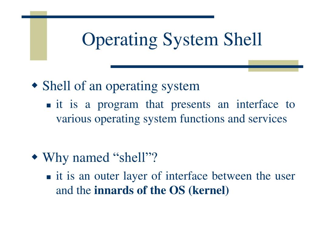 Operating System Shell