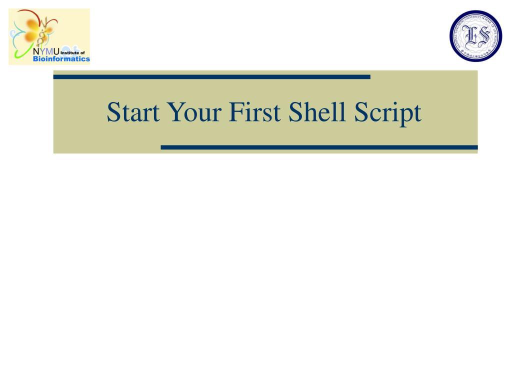 Start Your First Shell Script