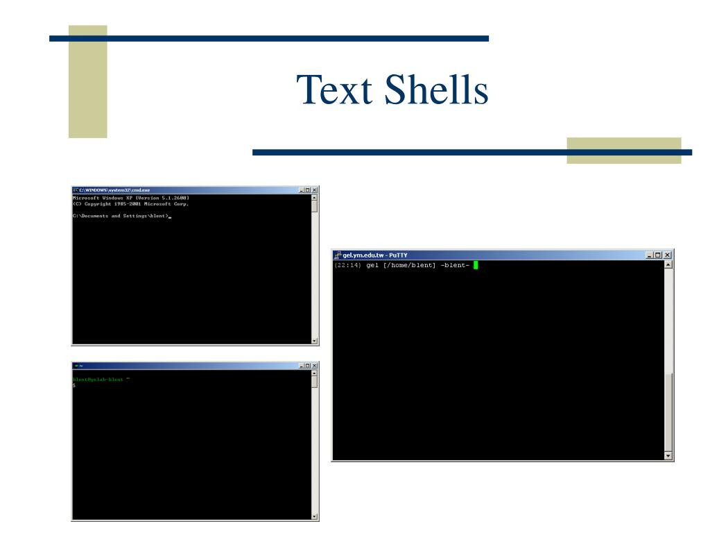 Text Shells